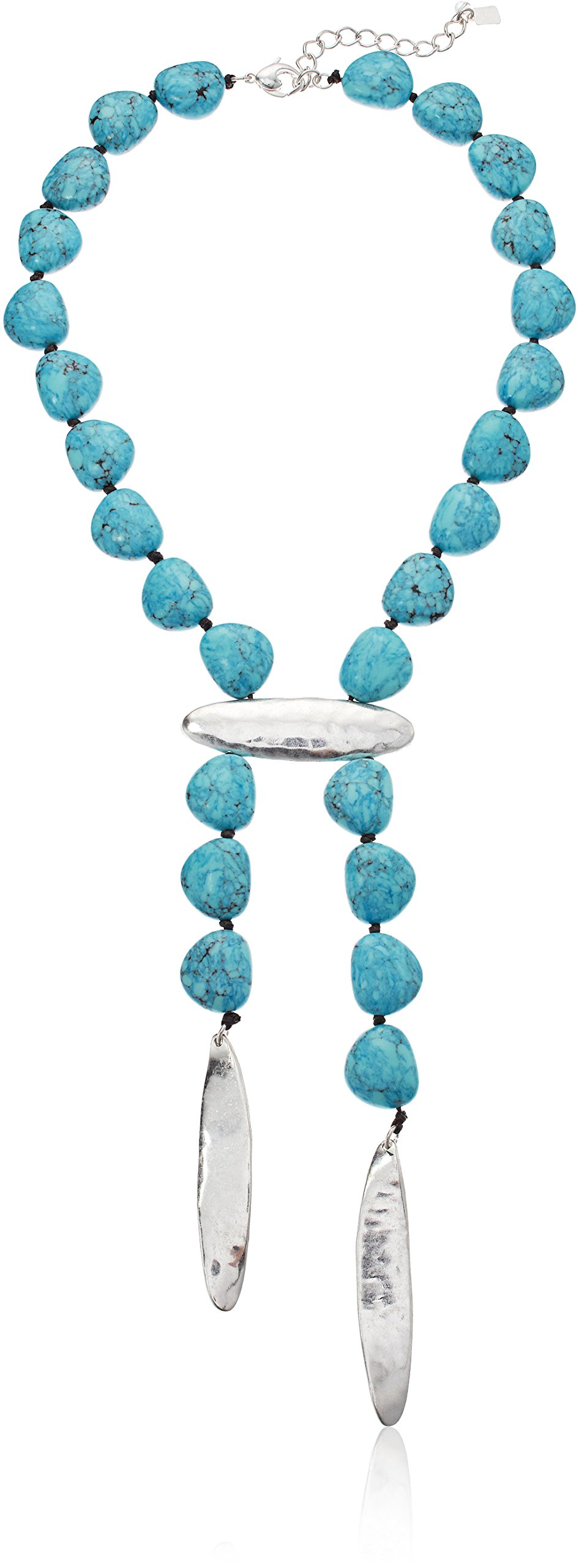 Robert Lee Morris Women's Long Y Shaped Necklace, Turquoise, One Size