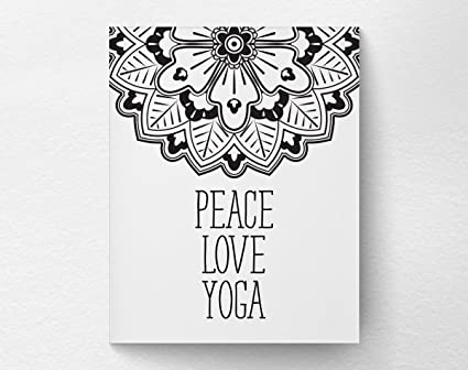 Amazon.com: Eric434Keats Peave Love Yoga Wall Decor Art ...