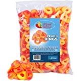 Peach Rings - 5 Pounds - Gummy Rings Candy - Gummy Rings Bulk - Orange Candy -BULK Candy