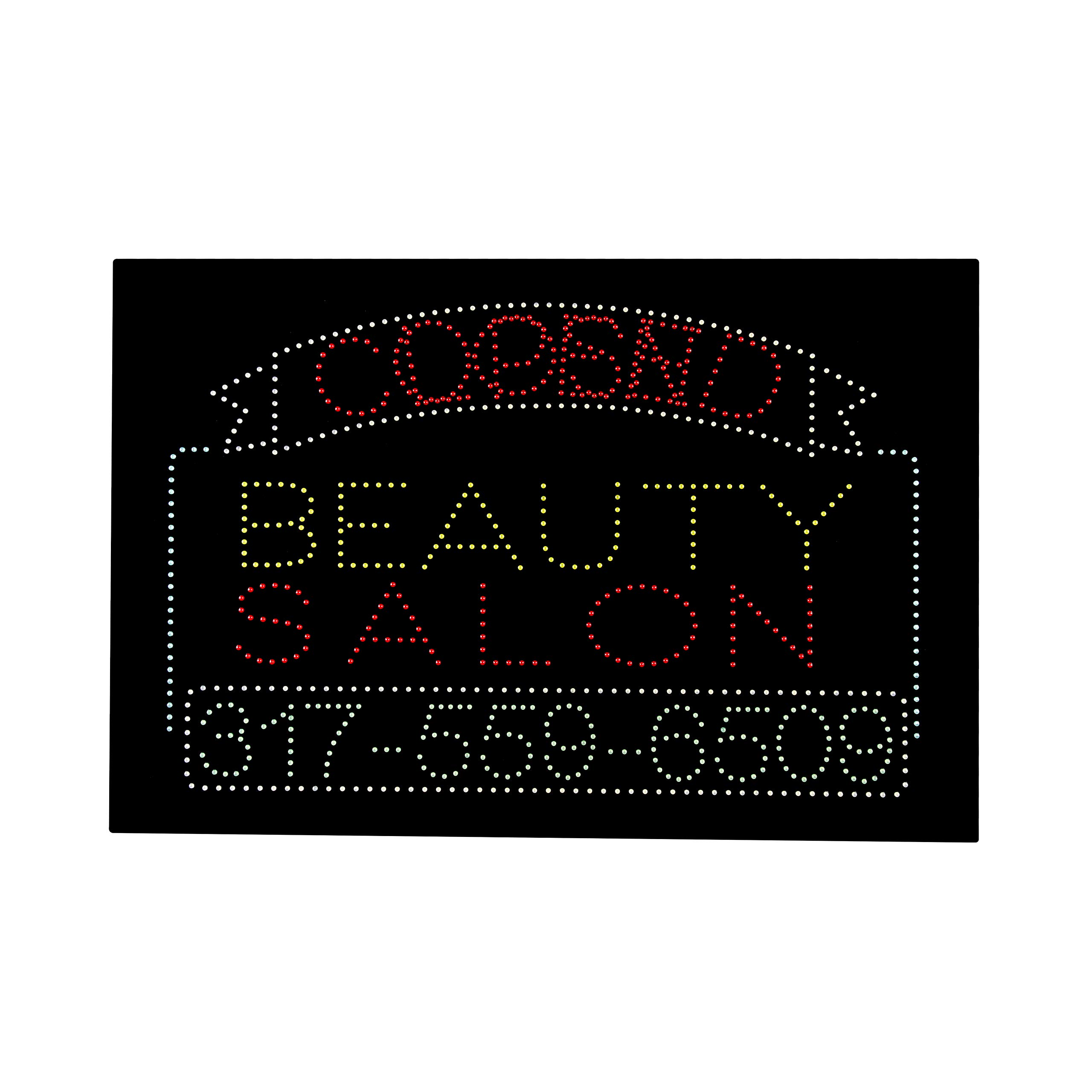 LED Beauty Salon Open Closed 2 in 1 Light Sign Super Bright Electric Advertising Message Display Board for Nails Spa Pedicure Facial Waxing Business Shop Store Window Bedroom 36 x 24 inches by HIDLY (Image #2)