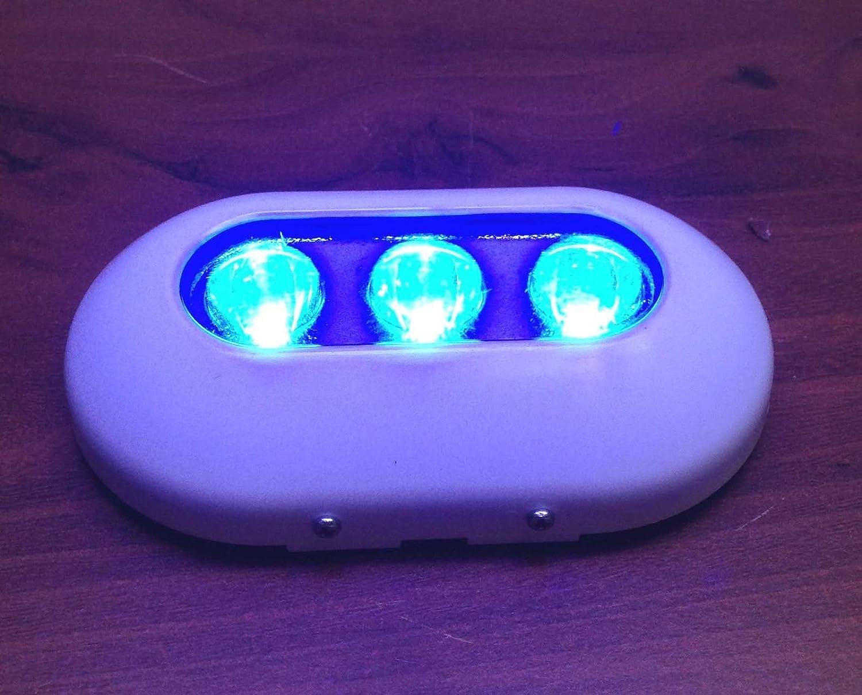超明るい樹脂楕円形Marine Blue Underwaterライトボート3 LED 6 W釣り   B00RY5ER26