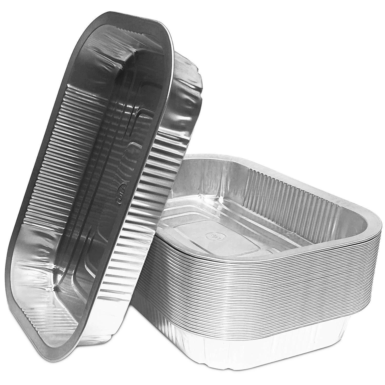 Lot de 25 lèchefrites en aluminium de qualité supérieure de Weber 220 x 150 x 34 mm (L x B x H)