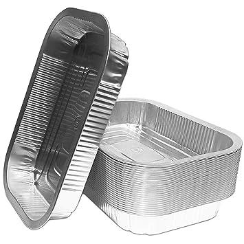 Bandejas de aluminio para barbacoa, alta calidad, 25 unidades, aptas para Weber