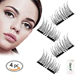 Amazon Price History for:3D Reusable Dual Magnetic False Eyelashes,Eyes More Beautiful and Natural Look,1 Pair of 4 PCS