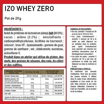 Iso Zero 100% proteína.: Amazon.es: Salud y cuidado personal