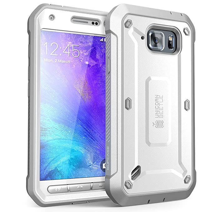 wholesale dealer 56fcc 03539 SUPCASE Galaxy S6 Active Case, Full-Body Rugged Holster Case with Built-in  Screen Protector for Samsung Galaxy S6 Active 2015 Release Unicorn Beetle  ...