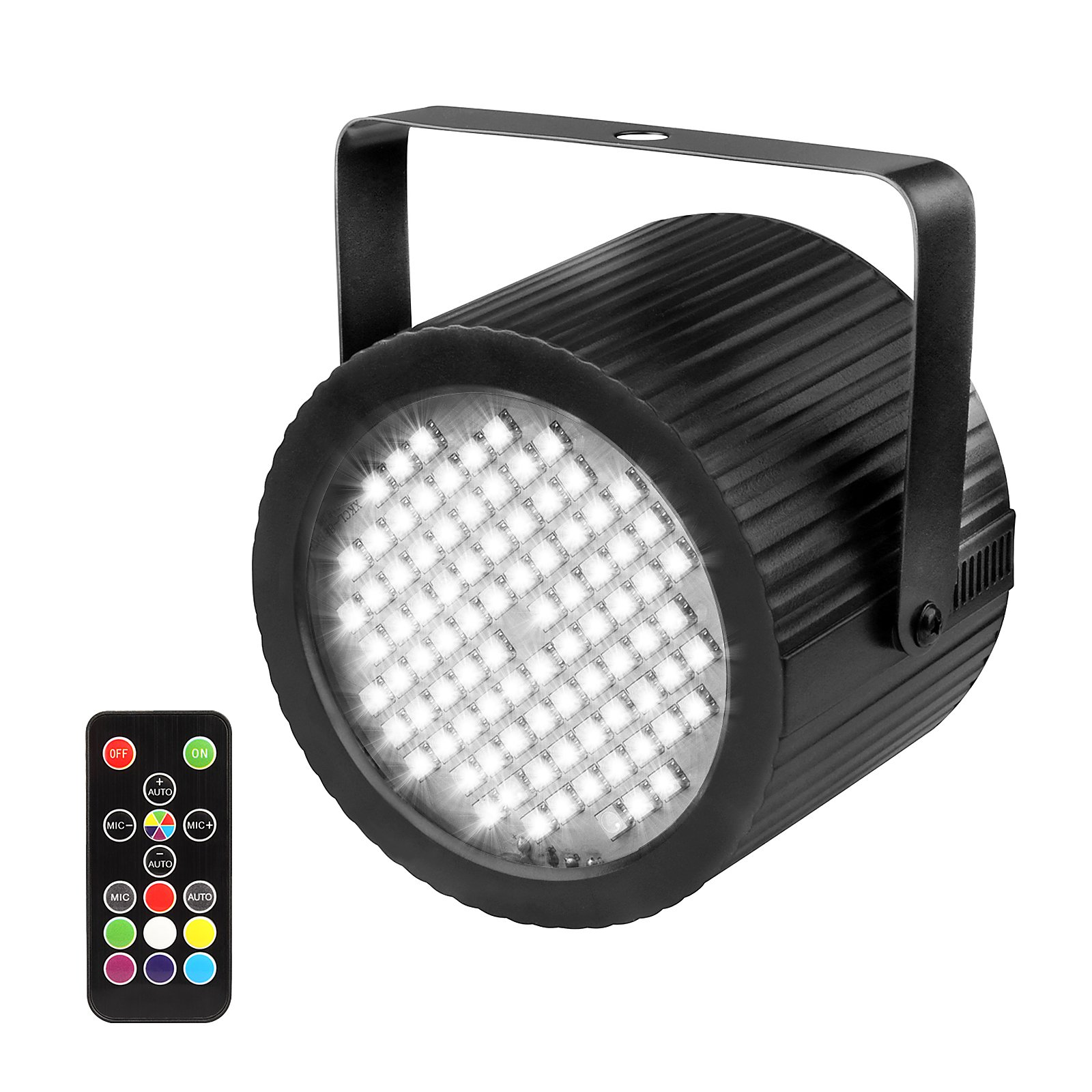 GBGS Strobe Lights 88 RGB 3 in 1 LED with White Strobe Effect Sound-Active Adjustable Flash Rate Strobe Stage Party Flash Lighting with Remote Control for Birthday Party Stage Dance Floor by GBGS