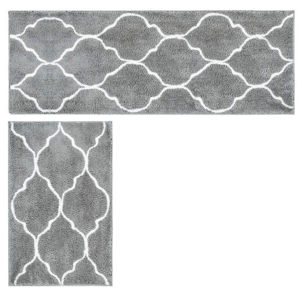 Hihome Bath Rugs Microfiber Shag for Indoor Home Bathroom Kitchen Entrance Rugs Bathmats Floor Rugs
