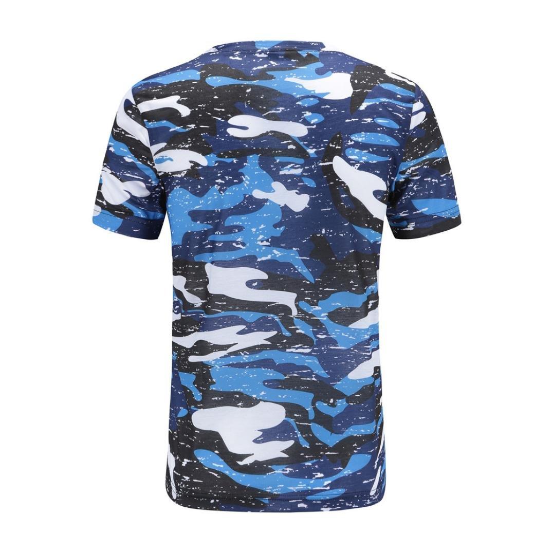 Amazon.com: ihph7 para hombre T Shirt, verano hombres manga ...