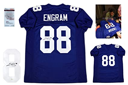 Evan Engram Autographed SIGNED Custom Jersey - JSA Witnessed Authentic -  Royal b2e9e74bb