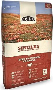 ACANA Singles Beef and Pumpkin Dry Dog Food 25 Pound Bag. (Fresh Angus Beef and Pumpkin)