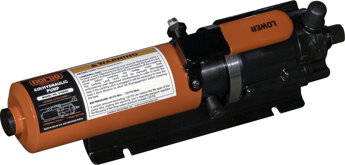 Norco Professional Lifting Equipment 910020 Hand Activated Air/Hydraulic Pump - 3,250 PSI