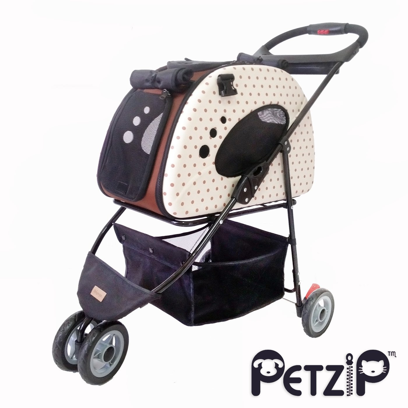 Petzip Fs1211-B Mochi Pet Carrier/Stroller, Small, Beige by Petzip