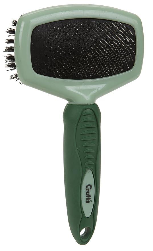 Doble Cepillos para perros y gatos, Cepillo de pelo Cuidado con ángulo cepillo de dientes finos, tirón rectangular 20 cm aprox.