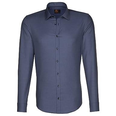 Kent 38 Camisa Patch3 Hombre Blau 0017 Modern Seidensticker SxwB5q0p0