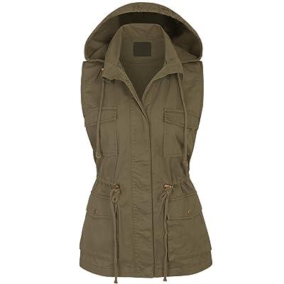 KOGMO Womens Military Anorak Safari Utility Vest at Women's Coats Shop