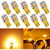 Kitchasy 194 168 Car Bulb, 906 175 914 916 161 T10 Wedge Upgrade 5 SMD 5050 Chipset Amber Light for Car Interior Dome…