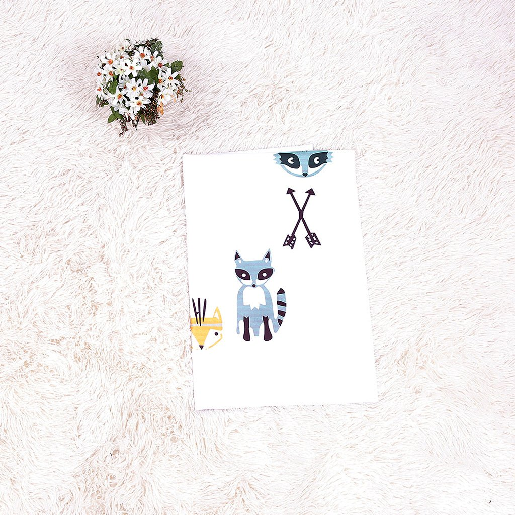 Fox Mummyhug Baby Colorful Milestone Blanket Infant Baby Personalized Photography Props Mattre Wrap
