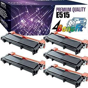 (5-Pack, Black) 4Benefit Compatible TonerCartridgeReplacementfor Dell E310 E515 to Used for Dell E310dw E515dw E514dw E515dn E310 E514 E515 Printers