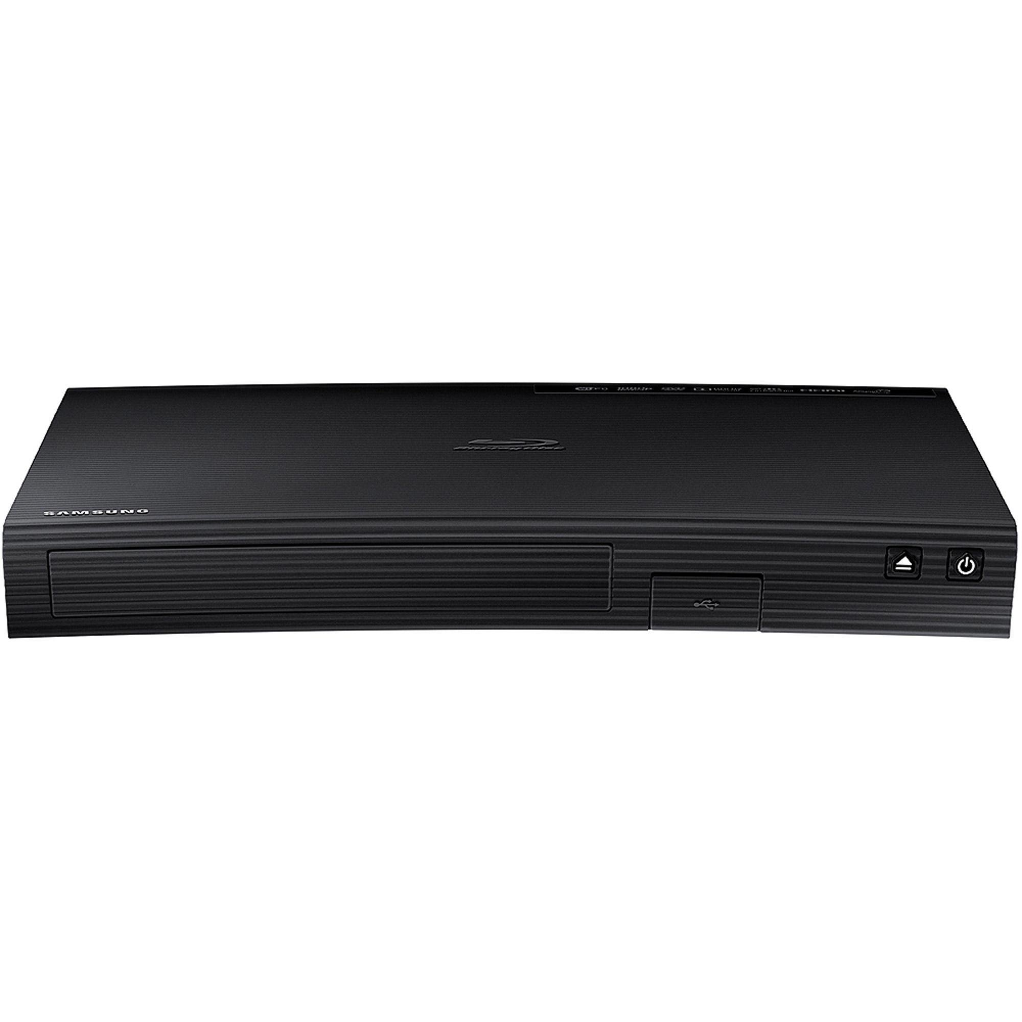 Samsung Blu-ray DVD Disc Player With Built-in Wi-Fi 1080p & Full HD Upconversion, Plays Blu-ray Discs, DVDs & CDs, Plus CubeCable 6Ft High Speed HDMI Cable, Black Finish (Certified Refurbished)