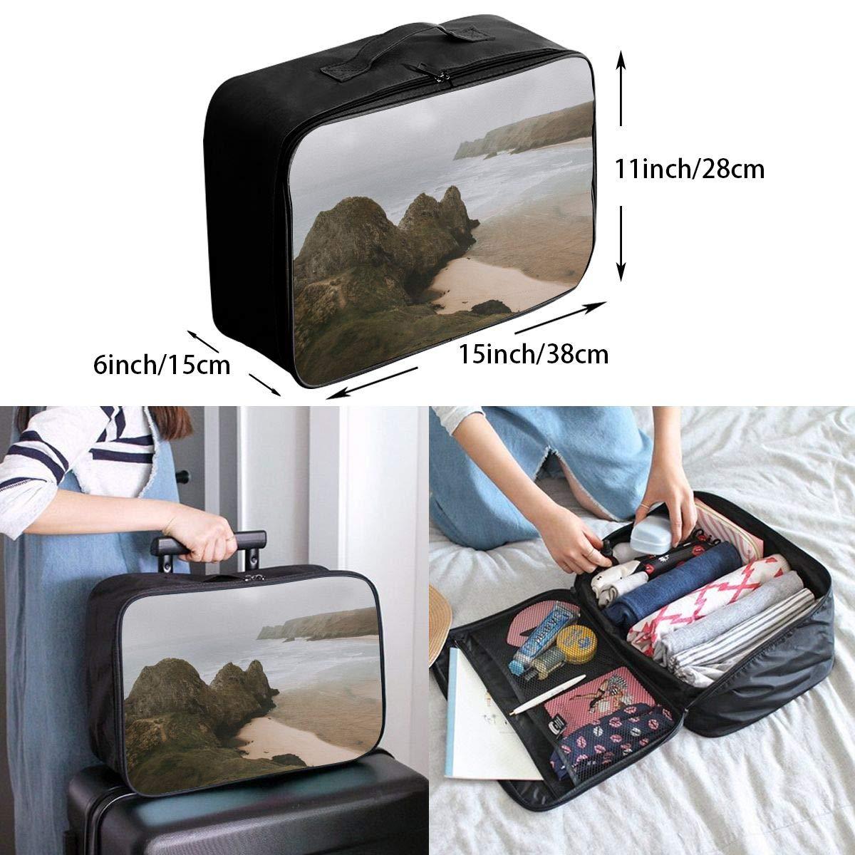ADGAI Cliffs by The Sea Canvas Travel Weekender Bag,Fashion Custom Lightweight Large Capacity Portable Luggage Bag,Suitcase Trolley Bag