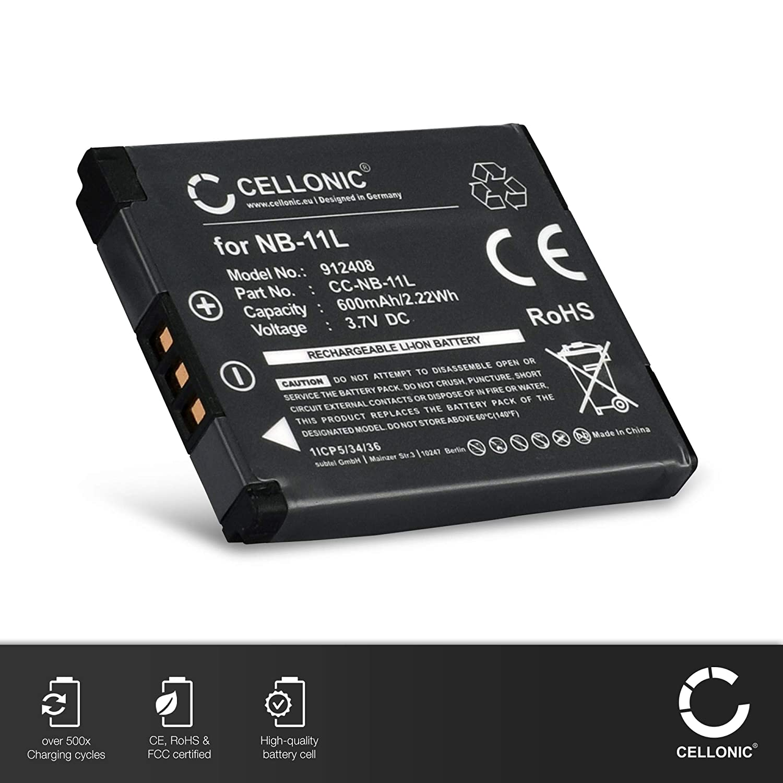 Batería para Canon IXUS 140 IXUS 165 IXUS 133 IXUS 170 PowerShot sx420 600mah