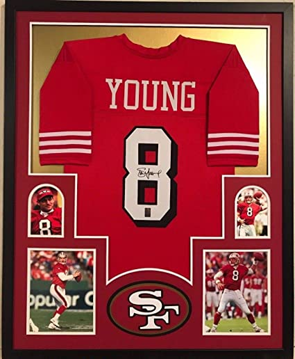 outlet store 24c0a 1818d FRAMED STEVE YOUNG AUTOGRAPHED SIGNED SAN FRANCISCO 49ERS ...