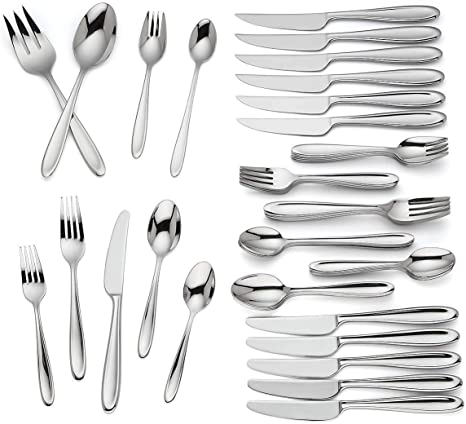 Lenox Barnaby 50 Piece Flatware Set Service For 6 Stainless 18 10 Classical New Flatware Sets