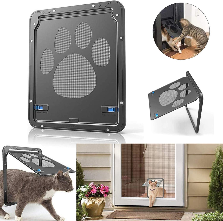 STARPIA Puerta para Gato, Puerta de Malla para Gatos Mascotas, Ventana de Mascotas con Puerta para Gatos Perros Pequeños, 29 cm x 24 cm: Amazon.es: Productos para mascotas