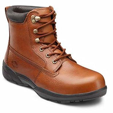 85ac29370e6 Dr. Comfort Boss Men's Therapeutic Diabetic Extra Depth Boot: Chestnut 12  Wide (E/2E) Lace