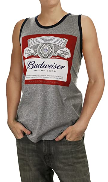 7917808fac048 Mens Budweiser Beer Label Tank Top (Medium) at Amazon Men s Clothing ...