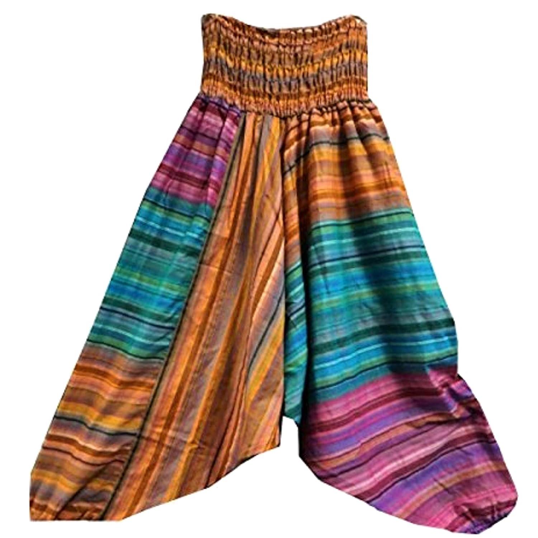 Pantalones bombachos claros tipo aladín pantalón-falda India ...