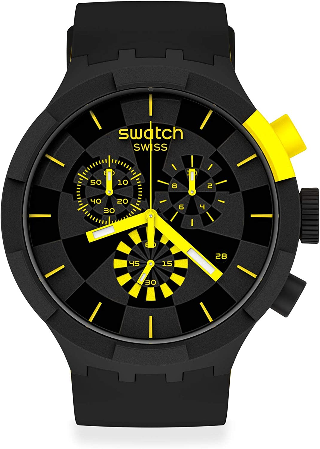 Reloj Swatch Big Bold Chrono SB02B403 Checkpoint Yellow