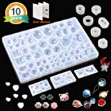 8 Pack Resin Molds JOFAMY Jewelry Making Molds Kit, Resin Jewelry Molds for Epoxy Resin, UV Resin, Clay,Resin Silicone Molds for Jewelry Making, Ring, Pendant, Bracelet, Earrings DIY Making