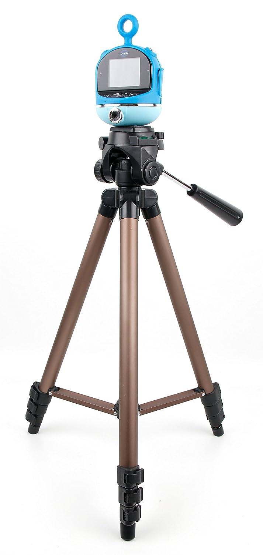 カメラ三脚with Extendable脚とball-tiltヘッドでブラック&ゴールドと互換性Vtech Kidizoom Flix – by DURAGADGET   B074W33JKZ