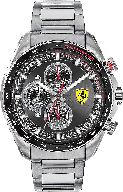 Scuderia Ferrari Reloj Analógico para Hombre de Cuarzo con Correa en Acero Inoxidable 0830652
