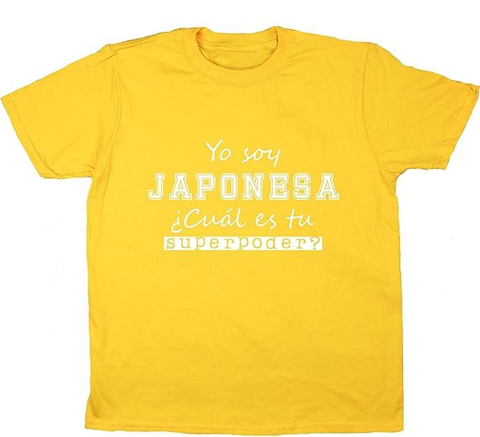 HippoWarehouse Soy Japonesa, ¿Cuál es tu Superpoder? camiseta manga corta niños niñas unisex