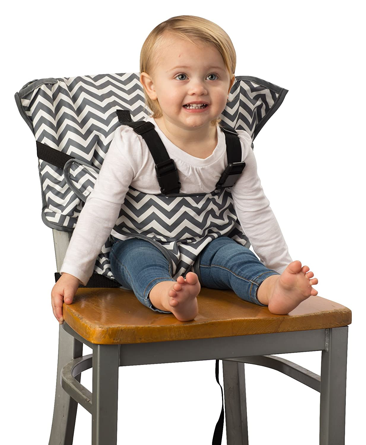 Amazon.com : Cozy Cover Easy Seat   Portable Travel High Chair And Safety  Seat For Infants And Toddlers (Black/Green) : Baby