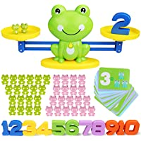 SPLAKS 82 Pack Balance Math Game Early Learning Education Toys Frog Balance Scale Mathematical Digital Addition Teaching…