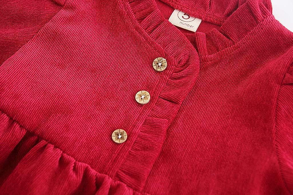 DAY8 Robe Ceremonie Bebe Fille 0-24 Mois Automne Habit V/êtements Robe B/éb/é Fille Hiver Robe Bapteme Princesse Mariage Bebe Fille Manche Longue Ensemble Robe pour Fille Sac