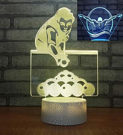 Amazon com: Aon-MX 2 Acrylic Sheets 3D Billiards Night Light
