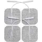 "Angel Premium TENS/EMS Unit 40 Electrode Pads 2""x2"" in. Reusable Self Stick Gel Carbon Electrodes"