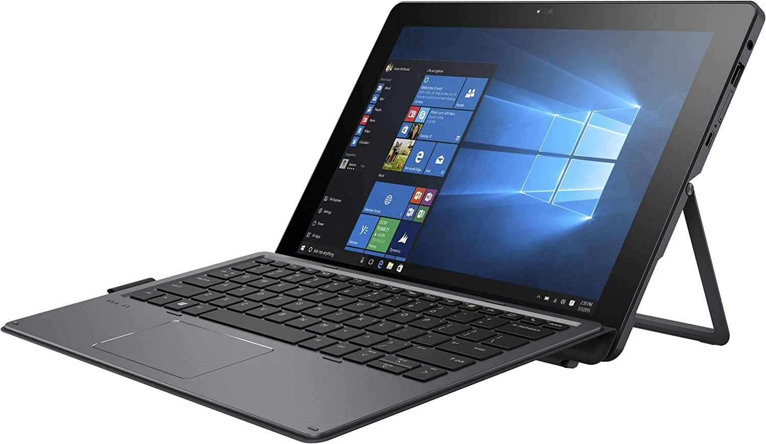 "HP 1BT06UT#ABA Pro X2 612 G2 - 12"" Windows Tablet with Detachable Keyboard Aspect Ratio 3:2 - 256 GB - Gray"