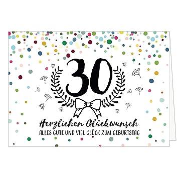 Grosse Gluckwunschkarte Zum 30 Geburtstag Xxl A4 Konfetti Bunt Mit