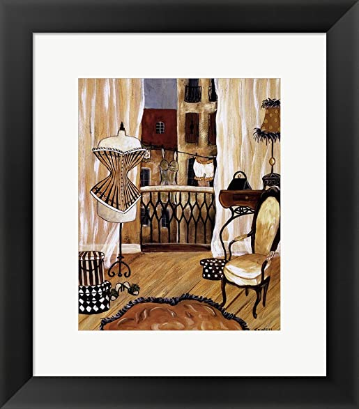 Amazon.com: French Boudoir I by Krista Sewell Framed Art Print Wall ...