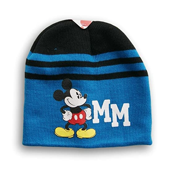 181f9502b03635 Image Unavailable. Image not available for. Color: Disney Mickey Mouse Blue Beanie  Cap