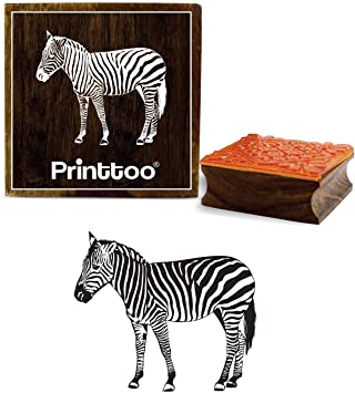 Printtoo Wooden Rubber Stamp Camel Pattern Scrap-Booking DIY Square Stamps-2 x 2 Inches