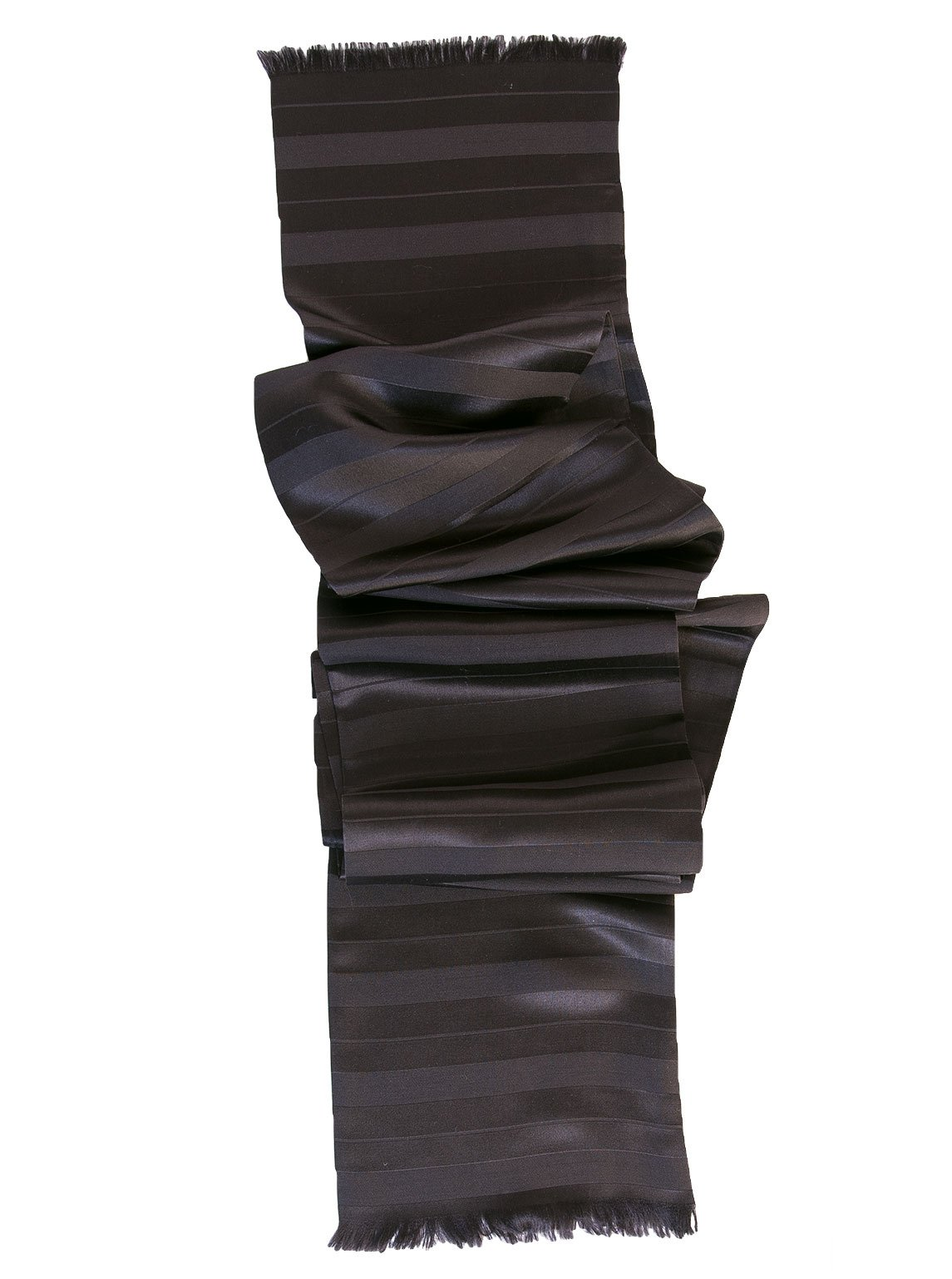 Elizabetta Men's Pure Silk Tuxedo Opera Scarf, Skinny Black