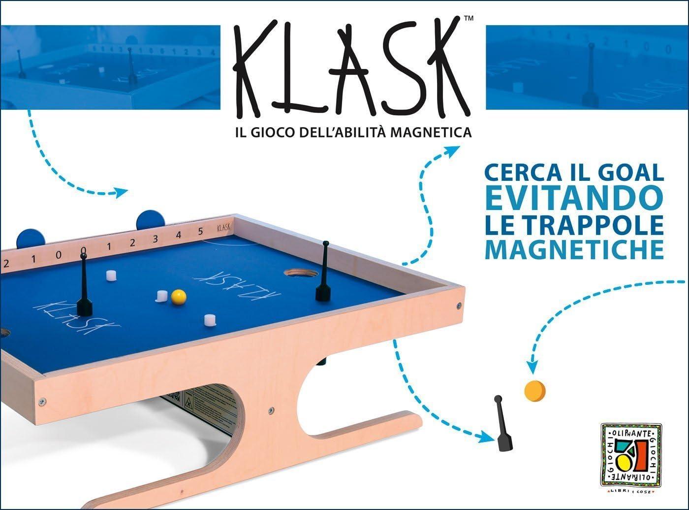 Oliphante Klask - Juego magnético de Habilidad, Multicolor, 2390105: Amazon.es: Juguetes y juegos