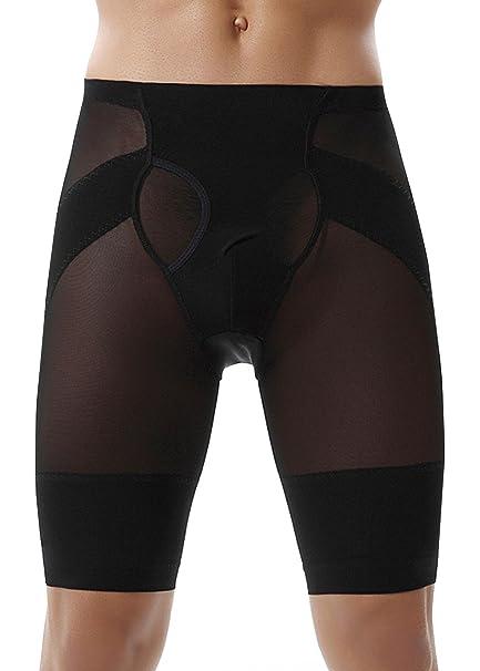 63d5f11bdc4c3 Panegy Mens High Waist Underwear Body Shaper Shorts Slimming Boxers Brief  Tummy Control Shapewear Black Small